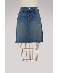 Mother - Tomcat Denim Mini-skirt - Lyst