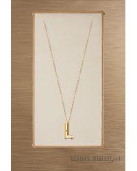 Louis Vuitton - Lv & Me Necklace, Letter L - Lyst