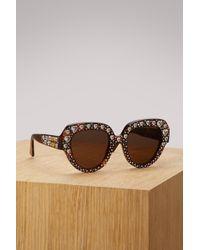 Gucci - Crystals Sunglasses - Lyst