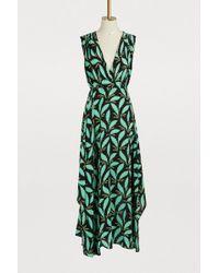 Diane von Furstenberg - Women's Sleeveless Draped V Neck Maxi Dress - Lyst
