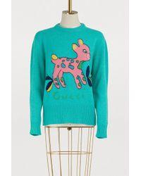 Gucci - Bambi Wool Jumper - Lyst