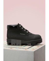 Acne Studios - Cushioned Tinne Boots - Lyst
