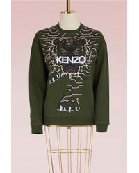 KENZO - Cotton Tiger Sweater - Lyst