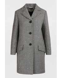 ef67a22234e0 Miu Miu - Wool Coat With Sequins - Lyst