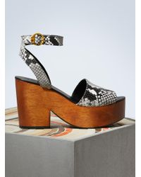 Tory Burch | Leather Camilla Sandals | Lyst