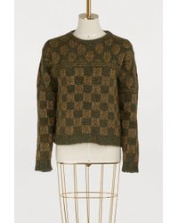 Roberto Collina - Square-patterned Sweater - Lyst