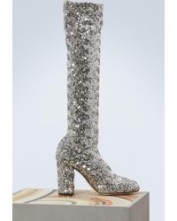 Dolce & Gabbana - Sequined Boots - Lyst