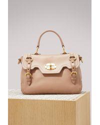 Miu Miu - Leather Top Handle Mm Bag - Lyst