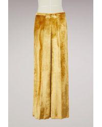 Forte Forte - Pantalons en velours et en soie - Lyst