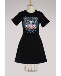 KENZO   Tiger Cotton Sweatshirt Dress   Lyst