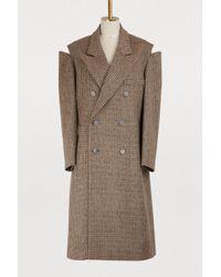 Maison Margiela - Open Shoulder Wool Coat - Lyst