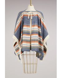 See By Chloé - Fringed Poncho Coat - Lyst