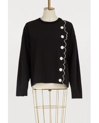 Vivetta - Cotton Face And Buttons Sweatshirt - Lyst