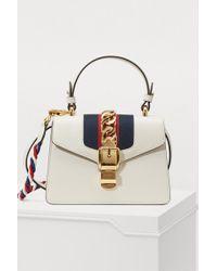 Gucci - Sylvie Leather Mini Bag - Lyst