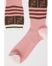 Fendi - Ff Socks - Lyst