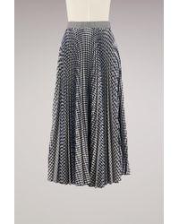 MSGM | Sprinkle Pleated Long Skirt | Lyst
