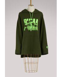 2878eddbd666a4 Puma Laced-up Corset Zipped Hoodie in Green - Lyst