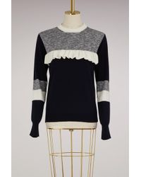 Maison Kitsuné - Wool Sweater With Ruffles - Lyst