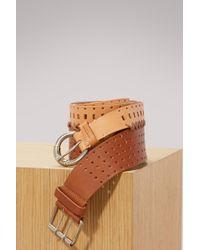Maison Margiela - Perforated Double Belt - Lyst