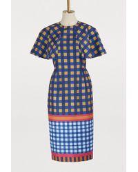 Stella Jean - Checked Dress - Lyst