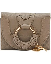 See By Chloé Hana Compact Wallet - Gray