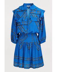 Ganni - Cloverdale Silk Dress - Lyst