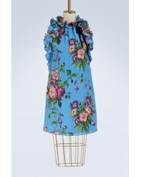 Gucci - Robe en soie Bouquet d'Août - Lyst