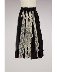 Simone Rocha - Lace Trim Pleated Skirt - Lyst