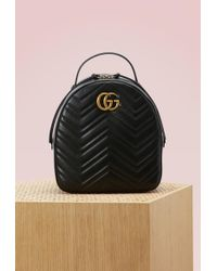 Gucci   Gg Marmont Quilted Leather Backpack   Lyst
