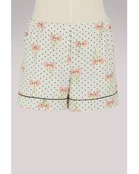 Miu Miu - Pijama Silk Shorts - Lyst