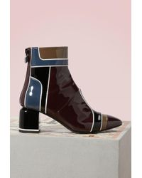 Pierre Hardy - Varnished Heel Boots - Lyst