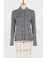 Tory Burch - Printed Letter T Crista Shirt - Lyst