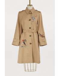 RED Valentino - Embroidered Trench-coat - Lyst