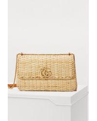 Gucci - Cestino Straw Shoulder Bag - Lyst