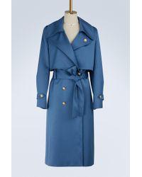 Lanvin - Satin Trench-coat - Lyst