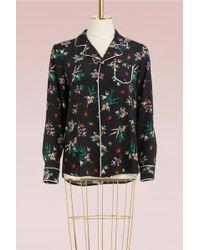 RED Valentino   Floral Print Shirt Silk   Lyst