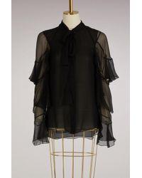 Chloé - Ruffled Silk Shirt - Lyst