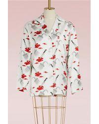Olympia Le-Tan - Jeff Psycho Print Shirt - Lyst