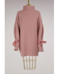 Moncler - Wool And Cashmere Knit Dress - Lyst