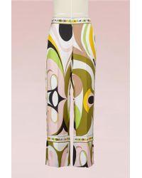 Emilio Pucci - Maschere Print Silk Pyjama Pants - Lyst