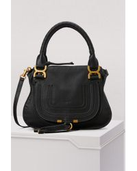 Chloé - The Marcie Large Textured-Leather Tote - Lyst