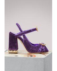 Dolce & Gabbana - Lurex Sandals - Lyst
