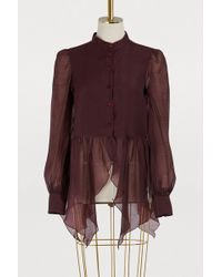 See By Chloé - Ruffled Blouse - Lyst