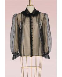 Simone Rocha   Marabou Collar Shirt   Lyst