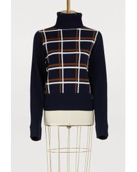 Vanessa Seward - Plaid Turtleneck Sweater - Lyst