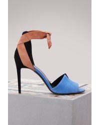 Pierre Hardy - Suede Secret Sandals - Lyst