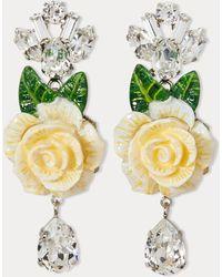 Dolce & Gabbana - Flower Earrings - Lyst