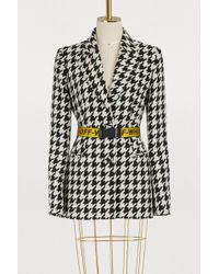 Off-White c/o Virgil Abloh - Houndstooth Wool Jacket - Lyst