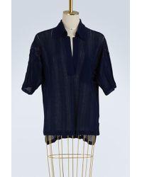 Acne Studios - Bennat Sheer Cotton Top - Lyst