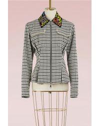 Mary Katrantzou - Hooper Jacket With Embroidered Collar - Lyst